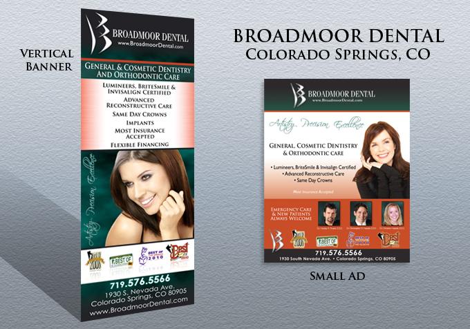Broadmoor Dental Branding - Vertical vinyl banners