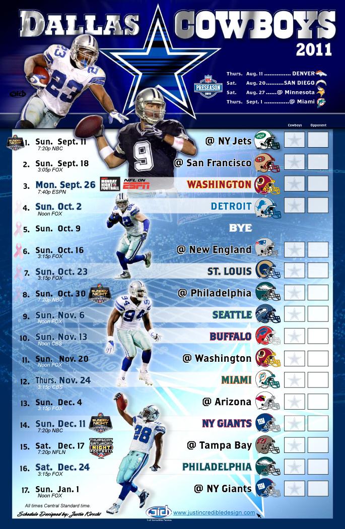 Cowboys 2011 schedule