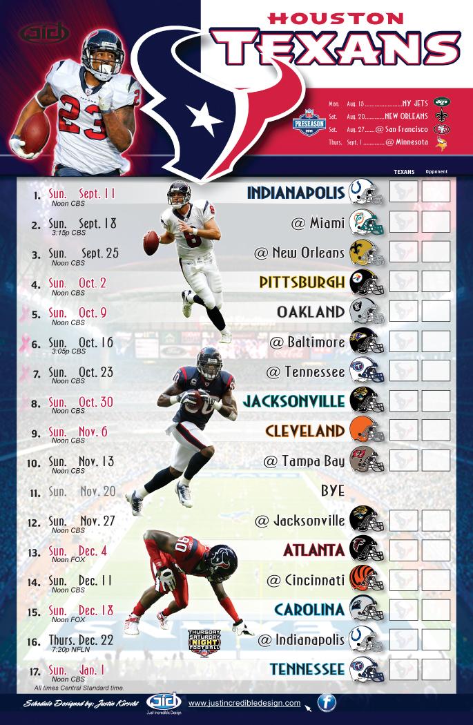 Texans 2011 schedule