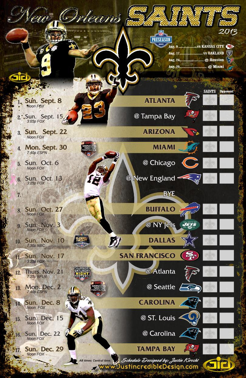 New Orleans Saints Schedule
