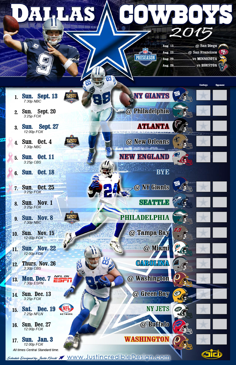 cowboys schedule — latest news, images and photos — crypticimages